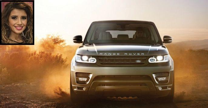 Carro Range Rover da cantora Paula Fernandes