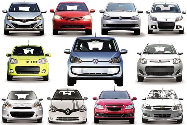 marcas de carros populares hoje no mercado