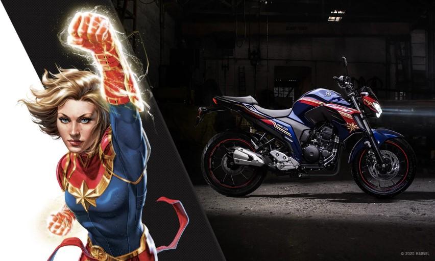 Moto Yamaha e Marvel Fazer 250 Capitã Marvel