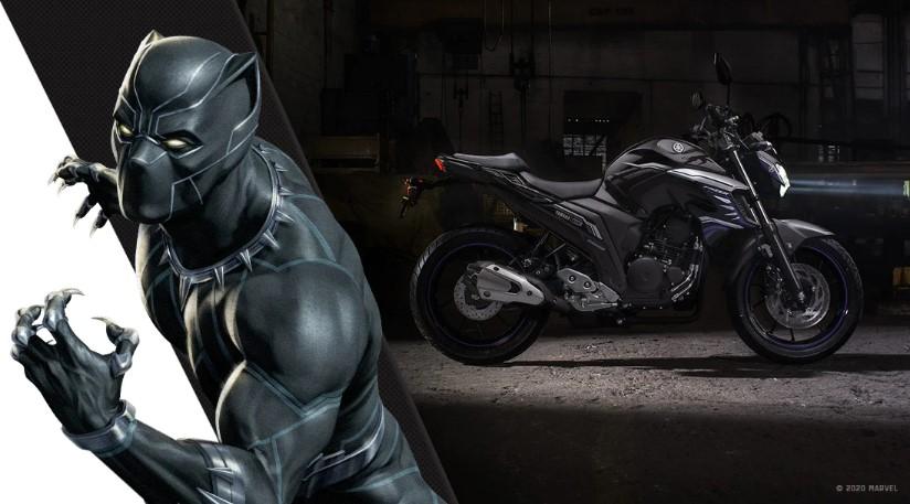 Moto Yamaha e Marvel Fazer 250 pantera negra